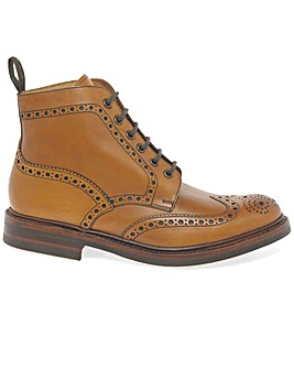 Loake Bedale Mens Wide Fit Brogue Boots