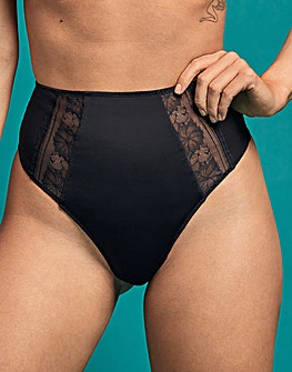 Figleaves Sheer Shaping High Waist Thong