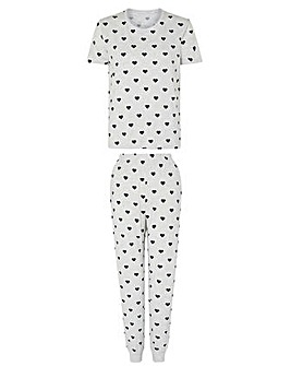 Accessorize HEART PRINT PJ SET