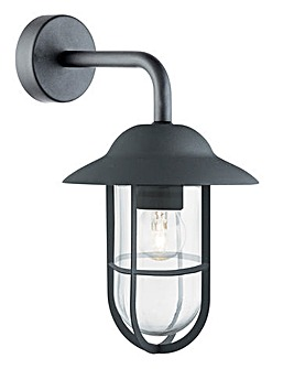 Matt Black Outdoor Hardwired Wall Light
