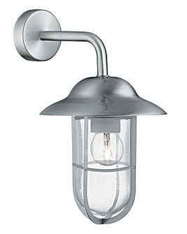 Matt Silver Outdoor Hardwired Wall Light