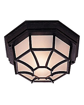Black Outdoor Hardwired Ceiling Light