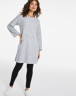 Grey Marl Rib Tunic