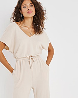 Oatmeal Soft Touch Jumpsuit