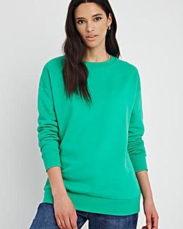 Green Plain Sweatshirt