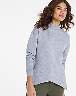 Asymmetric Hem Sweatshirt