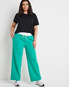 Green Wide Leg Joggers