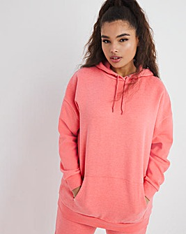 Oversized Coral Hoodie