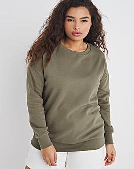 Khaki Plain Sweatshirt