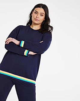 Rainbow Trim Sweatshirt
