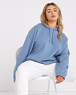 Blue Toggle Detail Hoodie