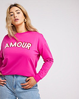 Amour Slogan Sweatshirt