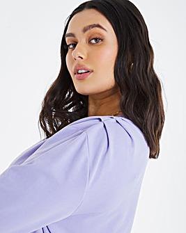 Shoulder Detail Loopback Sweatshirt