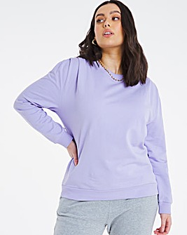 Shoulder Detail Loopback Sweatshirt