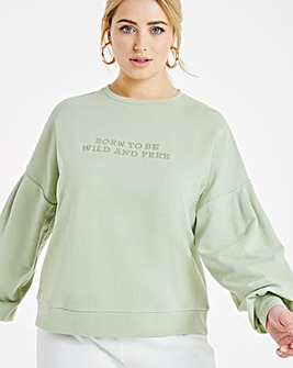 Sage Embroidered Sweatshirt