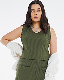 Soft Touch Racer Back Ribbed Vest Top
