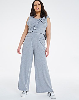 Soft Touch Wide Leg Rib Trouser
