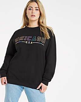 Chicago Oversized Crew Sweatshirt