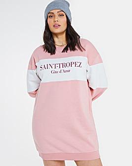 Colour Block Saint Tropez Sweat Dress