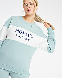 Colour Block Monaco Crew Sweatshirt