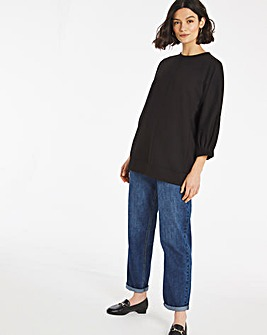 Pleat Sleeve Sweatshirt