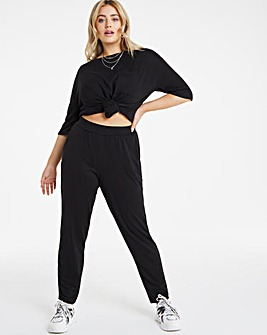 Black Soft Touch Jogger