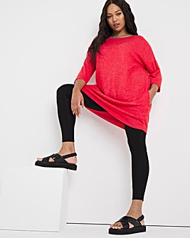 Burnt Red Soft Touch Side Pocket Tunic