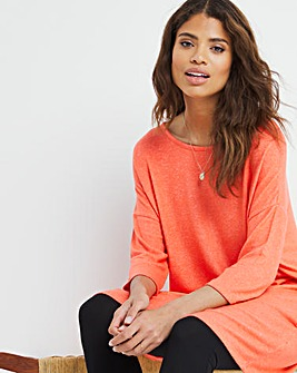 Coral Soft Touch Side Pocket Tunic
