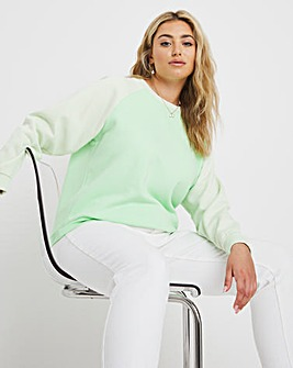 Raglan Colour Block Sweatshirt
