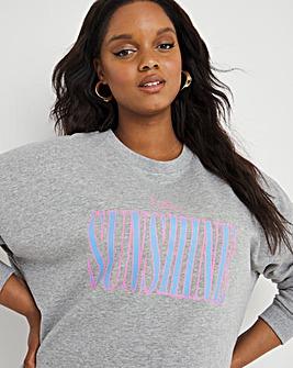 Sunshine Oversized Crew Sweatshirt
