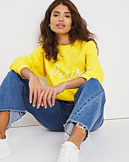 Paris Slogan Sweatshirt