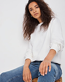 White Strap Back Sweatshirt