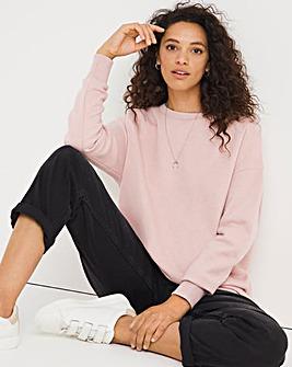 Blush Pink Plain Sweatshirt