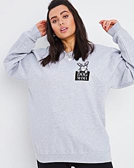 Dog Mama Oversized Sweatshirt