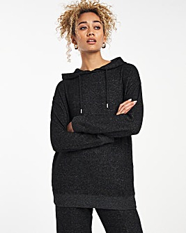 Charcoal Marl Soft Touch Hoodie