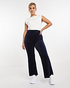 Velour Skinny Flare Trouser