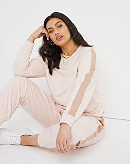 Camel Side Stripe Sweatshirt