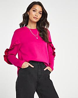 Frill Sleeve Sweatshirt