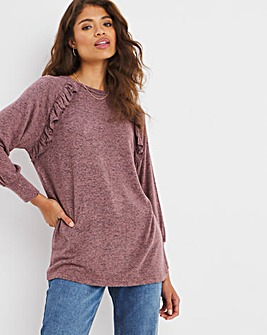 Soft Touch Ruffle Detail Top