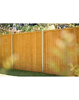 Pack of 5 Closeboard Fence Panels 6ft