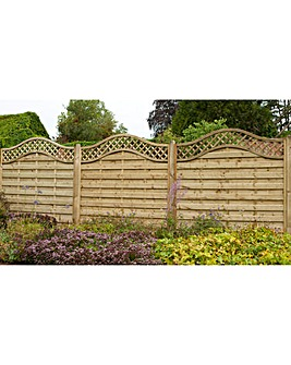 1.8m Europa Prague Fence Panel Pack of 3