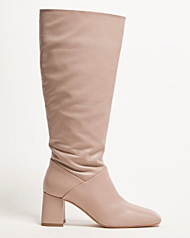 Naomi Leather Boots Over the Knee Wide SC
