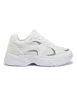 Tamika Retro Chunky Trainers Wide Fit