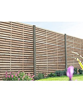 1.8m Slatted Fence Panel Pack of 3