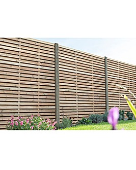 1.8m Slatted Fence Panel Pack of 5