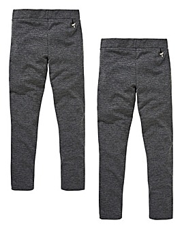 Young Girls Pck of Two Stretch Trousers