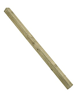 Pack of 6 Green Fence Posts- 8ft