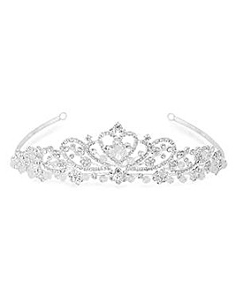 Silver crystal diamante tiara