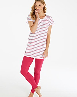 Pretty Secrets Pink Stripe Legging Set