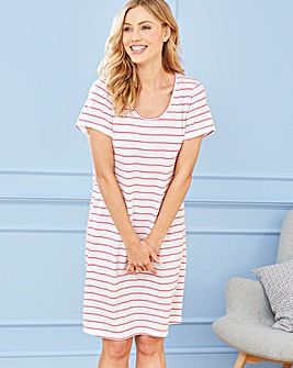 Pretty Secrets Short Sleeve Pink Stripe Nightie